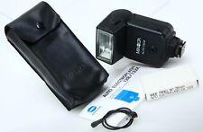 Konica Minolta Auto 132X Shoe Mount Flash w/case instructions tested 392184