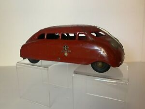 Rare Buddy L SCARAB Pressed Steel Wind Up Streamlined Futuristic Toy Car
