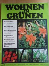 WOHNEN IM GRÜNEN 2 - 1976 DDR-Journal Garten Pflanzen Blumen Obst Gemüseanbau