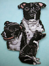 IRON-ON EMBROIDERED PATCH - ENGLISH STAFFORDSHIRE TERRIER - DOG