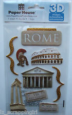 ROME ITALY~ Paper House Productions 3D Stickers; Colosseum, Roman Tourist Sights