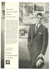 HART SCHAFFNER & MARX Men Suit 1958 ad Advertisement