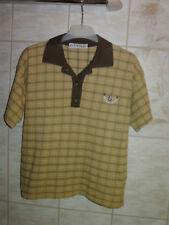134 Poloshirt Polohemd T-Shirt GASOLIO Karo Gelb NEU