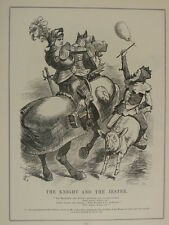 Punch cartoon 1903 /p160 The Knight And The Jester labouchere