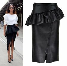 Below Knee Straight, Pencil Hand-wash Only Solid Skirts for Women