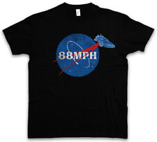 88 MPH T-SHIRT Back To The Car Miles per Hour Future Marty Fun Doc McFly Brown