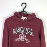 Vintage Alabama USA College Retro Hoodie Sweatshirt Jumper Red - Small