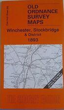 OLD ORDNANCE SURVEY MAPS WINCHESTER  STOCKBRIDGE DIST & MAP STOCKBRIDGE 1893 299