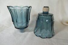 2 Vintage Votive Candle Cup Blue Starlite Homco
