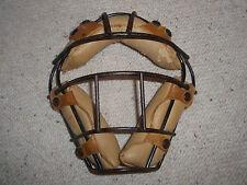 Vintage Metal and Leather Baseball Mask
