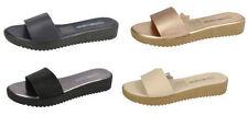 Block Leather Mule Sandals & Flip Flops for Women