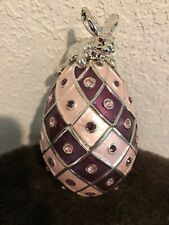 Arthur Court Metal Jewelled Collector Egg With Bunny 2003