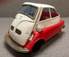 Vintage Tin Toy Bubblecar BMW Isetta by Bandai B-588 Friction Japan