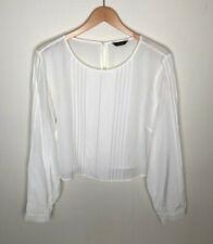M & S Autograph ivory pure silk blouse UK16