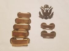 VINTAGE LOT OF MILITARY  BAR PINS  & Eagle Cap Pin screw back WWII