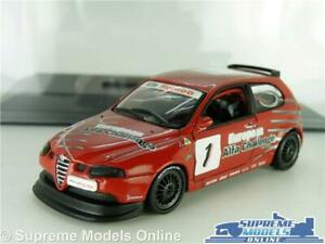 ALFA ROMEO 147 GTA CUP MODEL CAR 2003 RED TOURING RALLY 1:43 SIZE IXO + CASE K8