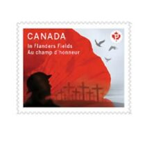 Canada 2836 In Flanders Fields 'P' single (1 stamp from booklet of 10) MNH 2015