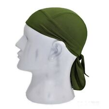 Moisture Wicking Stretch Army Green Dry Fit Headwrap Biker Durag Skull Cap Hat
