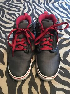 Boys Youth Faded Glory Hightop Shoes Size 6 Gray Red