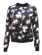 Waist Length Polyester Floral Coats & Jackets for Women