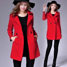 Giacca donna giaccone cappotto caldo cappottino lungo comodo rosso slim 1288