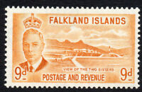 Falkland Islands 9d Stamp c1952 Mounted Mint Hinged (3046)
