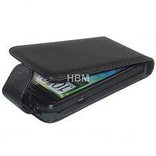 Exklusive Handytasche HTC Evo 3D Flip Case Schutzhülle Leder schwarz