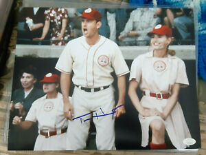 Tom Hanks  Autographed 11X14 PHOTO with Geena Davis League of their own JSA Cert