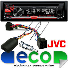 PEUGEOT 206 1998-02 JVC CD mp3 USB AUX STEREO AUTO & Volante Interfaccia Kit