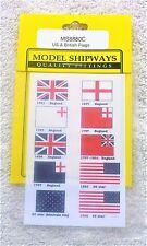 Model Shipways Fittings MS 8880C. US & British Flags. 1/2 X 3/4 Cloth. 1 PCS.