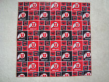 University of Utah Utes Swoop Fabric Bandana For You or Your Pet Dog NEW