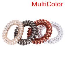 1PC/5PCS Rubber Telephone Wire Hair Ties Spiral Slinky Hair Head Elastic BaNTBD