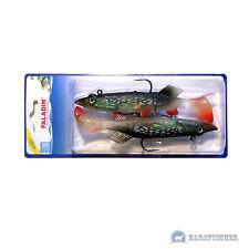 Paladin Trick Fisch Gummifisch mit Haken Drilling Hecht 12cm je 20g