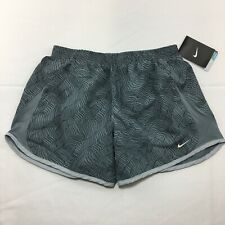 Nike Dri-Fit Tempo Running Shorts Girls Size XL Gray Black Wavy