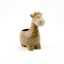 Giraffe Large Brown Ceramic Planter