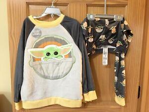 NWT Disney Store Star Wars Mandalorian The Child Yoda PJ Boys Pajama set