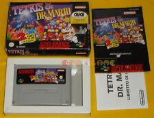 TETRIS & DR. MARIO Super Nintendo Snes Versione PAL Italiana ○○○○○ COMPLETO