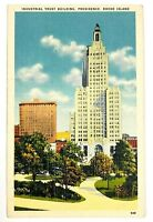 Industrial Trust Building Providence Rhode Island Vintage Postcard Street View
