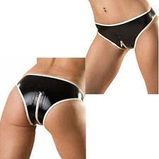 New Women's Spandex Lingerie Briefs Panty Shorts Zipper Crotch Short Underwear L