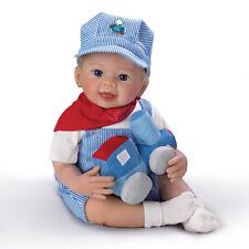 Ashton Drake So Real All Aboard Logan Boy Baby Doll Linda Murray