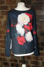 DOROTHY PERKINS LONG SLEEVE FLORAL TOP SIZE 14