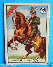 figurines cromos card figurine v.a.v. vav 72 la guerra nostra ungheria ufficiale