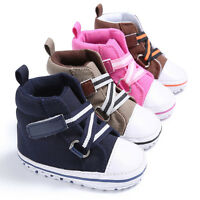 0-18Months Newborn Infant Baby Toddler Sneakers Boys Girls Soft Sole Crib Shoes