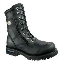Harley-Davidson® Men's Riddick Lace Up Black Leather Motorcycle Boots D98308 M
