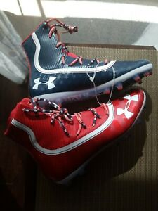 Under Armour Highlight LIMITED EDITION USA Football Cleats 3021191-600 Men's 12