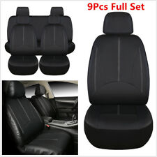 Full Set 9PCS PU Leather Auto Car Seat Cover SUV Seat Cushion Front/Rear 5-Seat