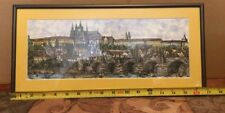 "Lovely Framed Artwork 14""Lx5-1/4""w,"
