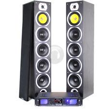 "2x Fenton 6.5"" Hi-Fi Tower Speakers + Home Cinema Amplifier System SSC2019"