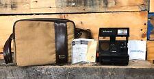 Vintage Polaroid Sun 660 Autofocus Instant Flash Camera Strap Case Buy Receipt