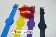5x silicon ID wristbands 125Khz RFID EM4200 compatible 5 colors buckle bracelet